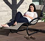Eclipse Collection The Wave Lounger - Cocoa New (with black frame)
