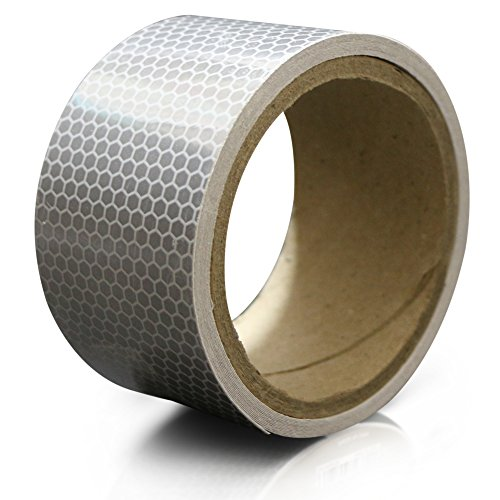 - XFasten Reflective Tape, White and Silver, 2 Inches by 5 Yards
