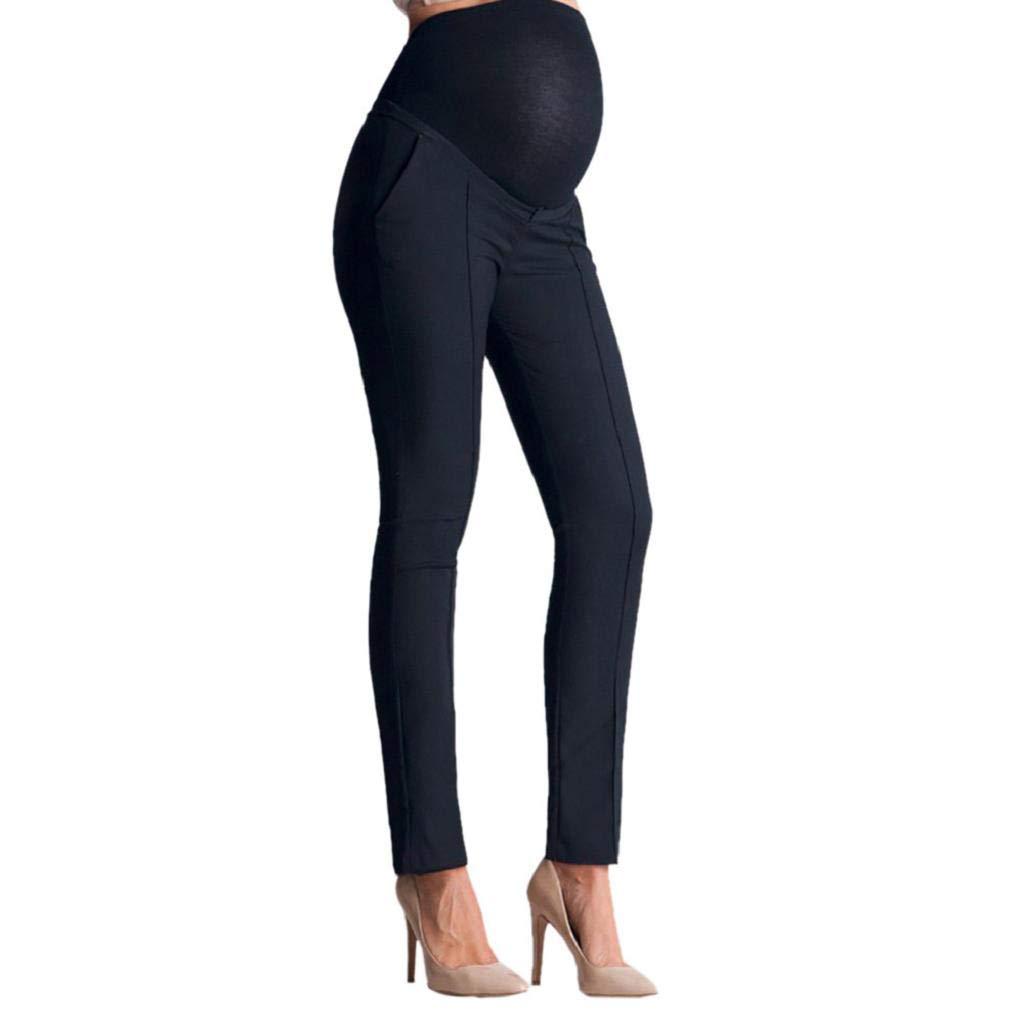 Waselia Femme Enceinte Grossesse Vetement Maternité Hiver Chaud Mode Solide Pantalon Mince Stretch Leggings