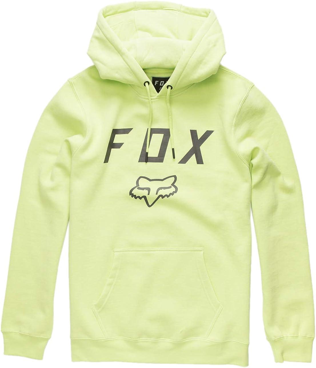 Small Lime Fox Racing Legacy Moth Pullover Hoodie Soft Heavyweight Fleece Warm Sweatshirt