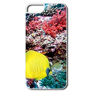 Custom Sports Non-Slip YY-ONE Sea Coral Reef Fish IPhone 5/5s Case For Birthday Gift