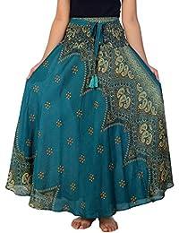 Women's Long Maxi Skirt Bohemian Gypsy Hippie Style Clothing