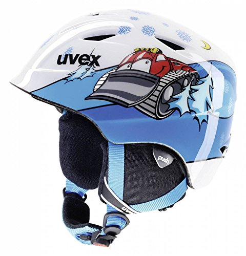 UVEX Kinder Skihelm airwing 2, White Caterpillar, 52-54 cm, S5661324103
