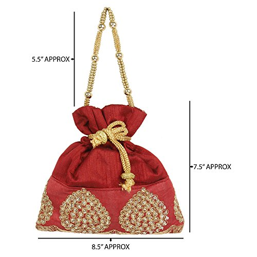 Discount Maroon Colour Potli Extra Purse Purse For Drawstring { Beautiful Collection Womens 10 } YpxqEFg