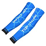 OLSUS Pair UV Air Permeable Elastic Protection Arm Sleeves for Cycling/Running/Basketball/Baseball/Golf, etc