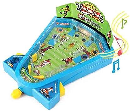 Pinball fútbol Juguete Mini futbolín/electrónico Juego de tiros y ...
