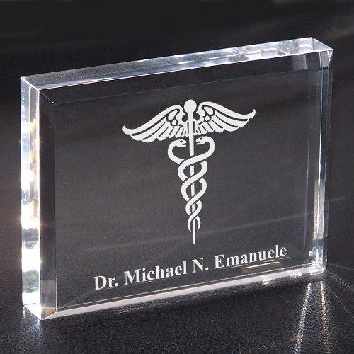 (GiftsForYouNow Medical Personalized Keepsake Paperweight, Acrylic, 3
