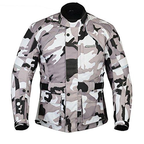 RKsports Camoulflage Grey Black Army Cordura Motorcycle Motorbike Jacket...