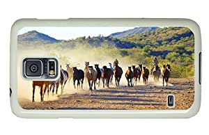 Hipster brand new Samsung Galaxy S5 Cases horses caballeros PC White for Samsung S5