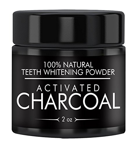 Activated Charcoal Natural Teeth Whitening Powder (2 oz) by Earthborn Elements, Highest Quality, USP Pharmaceutical & Food Grade, Vegan, Gluten-Free