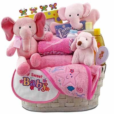 Baby Girl's Precious Gift Basket by Baby
