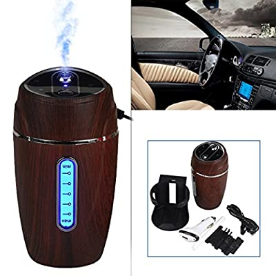 GOTD Hot Mini USB Humidifier Air Purifier Freshener Diffuser For Home Office, Brown