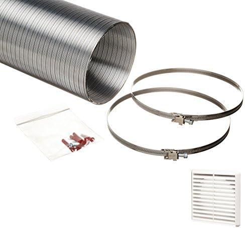 naplesuk Universal 150 mm conductos para campana de semi carcasa rígida de Aluminio 152 mm largo de la manguera diámetro interno 3,0 Metre con color blanco rejilla de rejilla: Amazon.es: Bricolaje y herramientas