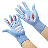 Zomchain Kids Disposable Nitrile Gloves for 7-14 Years Students - Powder free, Latex Free, Odorless, Food Grade, Allergy Free, Textured Finger- 5mils 100PCS Blue