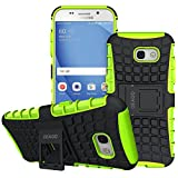 Galaxy A5 2017 Case, OEAGO Samsung Galaxy A5 2017 Case [Shockproof] [Impact Protection] Tough Rugged Dual Layer Protective Case with Kickstand for Samsung Galaxy A5 2017 - Green
