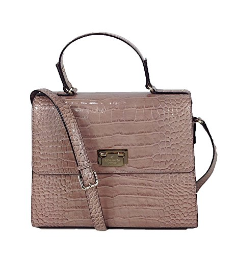 Kate Spade New York Knightsbridge Croco Leather Doris Satchel, Rose Water