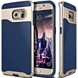 Galaxy S6 Edge Case, Caseology® [Wavelength Series] Textured Pattern Grip Cover [Navy Blue] [Shock Proof] for Samsung Galaxy S6 Edge (2015) - Navy Blue