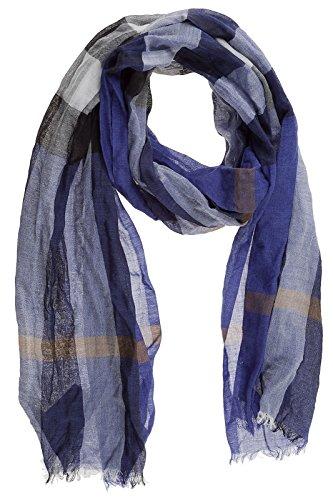 Burberry men's wool scarf mu gauze blu