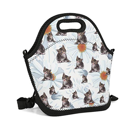 CBBYY Lunch Tote Insulated Reusable Picnic Lunch Bags Boxes Wildcat Lunchbox for School Work Office ()