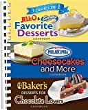 3 Books in 1: Jello and Cool Whip Favorite Desserts, Baker's Dessert for Chocolate Lovers, Philadelphia Cheesecakes and More