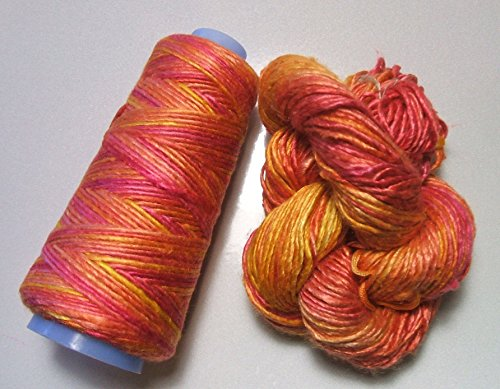 100% Pure Mulberry Duke Silk Yarn 50 Gram Worsted Weight Parfait DS017 Lot C - Cone or Hank