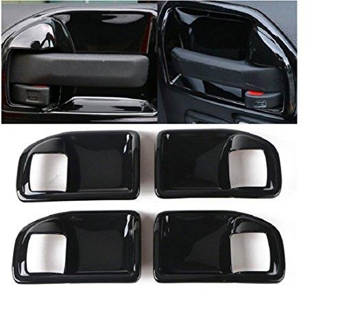 Nicebee 4 PCS/Set ABS Plastic Black Interior Handle Bowl Cover Trim For Jeep Wrangler JK 4 Door 2011-2016