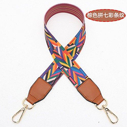 (Brown Woven belt Wide 3.8cm / Length 73cm Mini Purse/Shoulder/Cross Body Bag Replacement DIY Strap replacement purse strap)