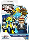 Transformers Rescue Bots Energize Playskool Heroes Action Figure Bumblebee & Scrapmaster by Hasbro (English Manual)