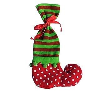 Los Calcetines Del Duende De La Navidad, Regalo De La Navidad Del Caramelo Del Bolso