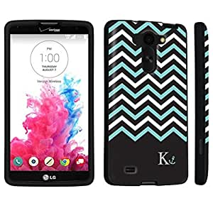 DuroCase ? LG G Vista VS880 / D631 Hard Case Black - (Black Mint White Chevron K) by icecream design