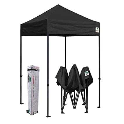new style c0467 e06c5 Eurmax 5x5 Ez Pop up Canopy Outdoor Heavy Duty Instant Tent Pop-up Canopies  Sun Shelter with Deluxe Wheeled Carry Bag (Black)