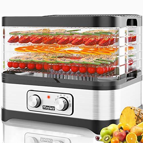 Food Dehydrator Machine Jerky with 5 Trays, Knob Button/250W