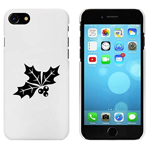 Blanc 'Feuilles de Houx et Baies' étui / housse pour iPhone 7 (MC00078756)