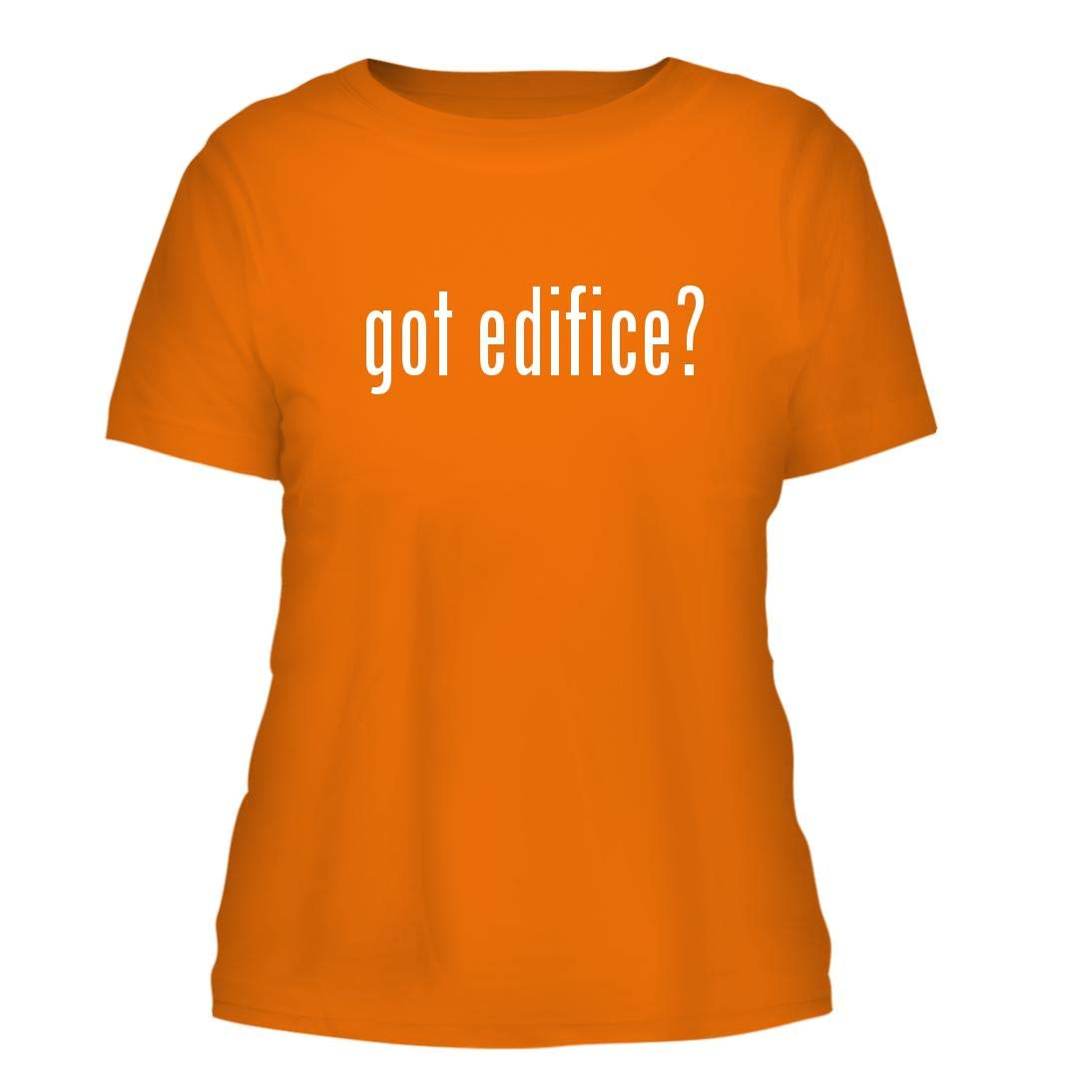 got Edifice? - A Nice Misses Cut Women's Short Sleeve T-Shirt, Orange, Large by Shirt Me Up