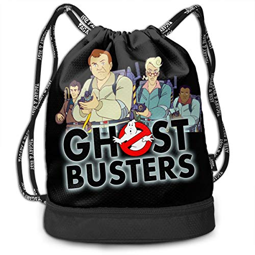 Cheny Drawstring Backpack The Real Ghostbusters TV Series Sports Gym Cinch Sack Bag for Women Men Children Gymsack Sackpack]()