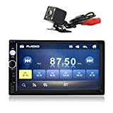 Kidcia 7' Double-Din Touch Screen Car Stereo Indash with Bluetooth & Rear View Camera & Remote Control,Car Media Player Support 1080P Video Player MP3/MP5/FM/USB
