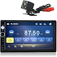 Kidcia 7 Double-Din Touch Screen Car Stereo Indash with Bluetooth & Rear View Camera & Remote Control,Car Media Player Support 1080P Video Player MP3/MP5/FM/USB
