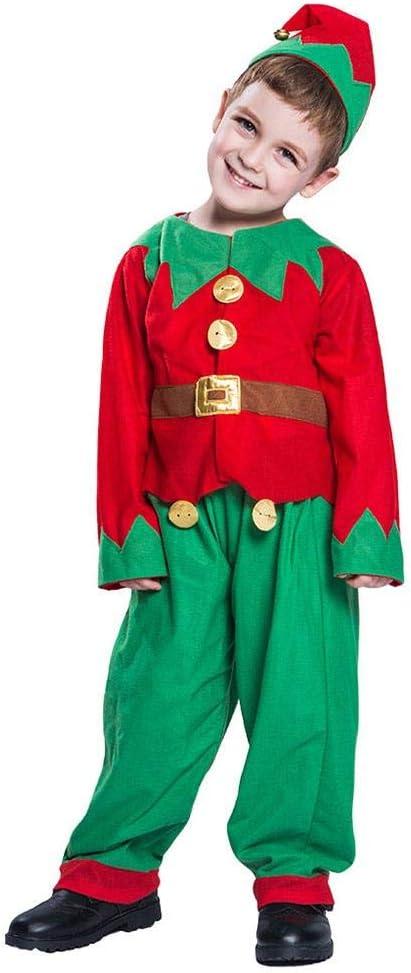 CampHiking Juego de Disfraz de Elfo de Navidad para niños 3 ...