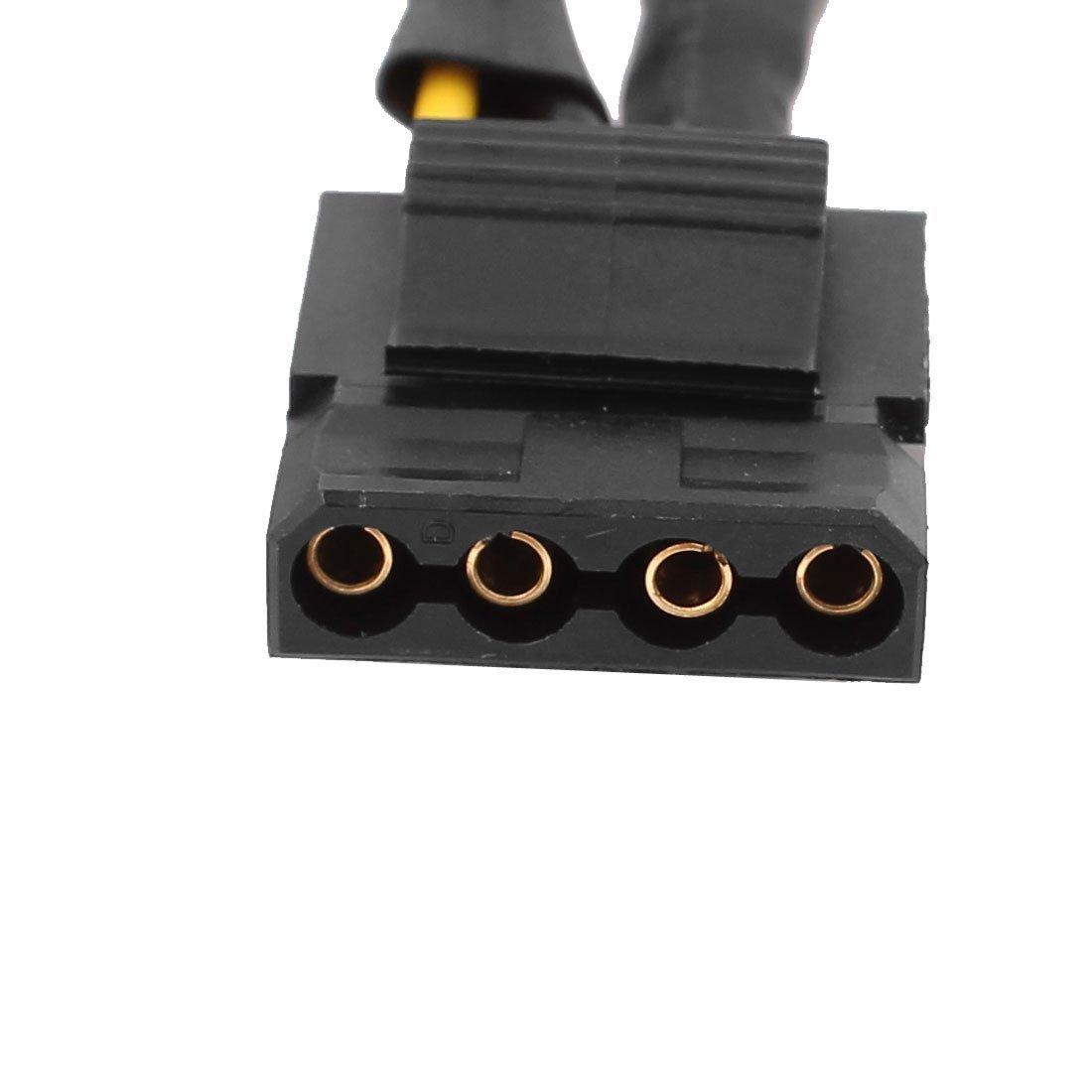 DealMux 35 polegadas 4 Pin Famale Para 3X LP4 Female Power Adapter Preto Cabo by DealMux (Image #2)