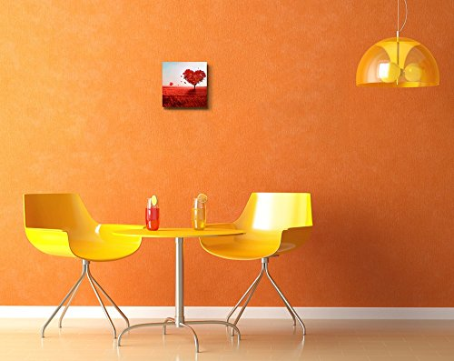 Red Tree of Love Romantic Scene Retro Style Wall Decor