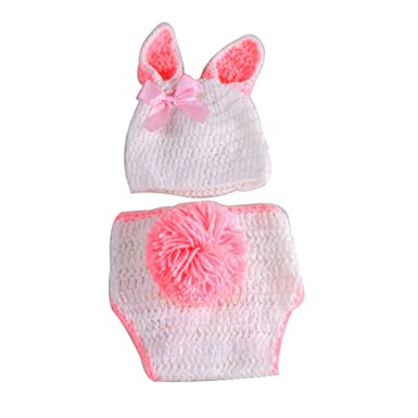 d44ffb41cc1 NUOLUX One Size Kaninchen Cute Newborn Infant Handmade Crochet Beanie Hat  Cl  Amazon.in  Clothing   Accessories