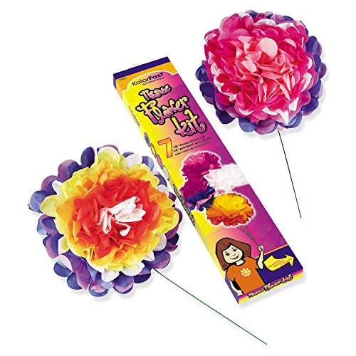 - Pacon PAC59600 Colorfast Tissue Flower Kit, 10