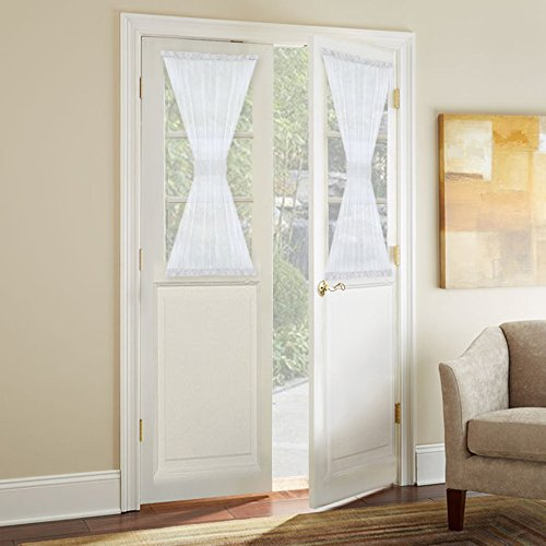 NICETOWN Sidelight Panel Curtains for French Door Side Light Front Door Curtain with Tieback, 30