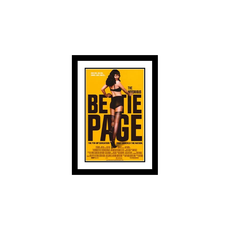 The Notorious Bettie Page 32x45 Framed and Double Matted Movie Poster   B