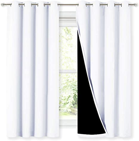 23 W x 63 L HouseLookHome Blackout Shades Curtain Island Thermal Insulated Curtain Phang NGA in Thailand Coast for Narrow Window Rod Pocket Panel