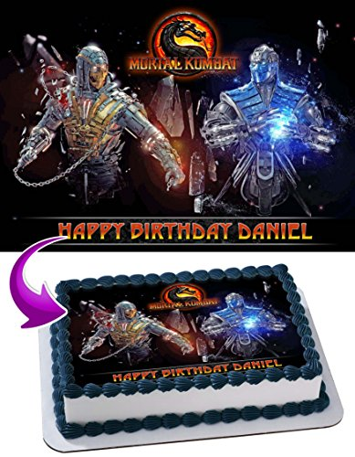 Mortal Kombat Edible Image Cake Topper Personalized Birthday