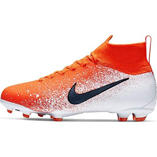Nike Kids' Jr. Mercurial Superfly 6 Elite FG Soccer Cleat (Sz. 5.5) Hyper Crimson, White, Black ()