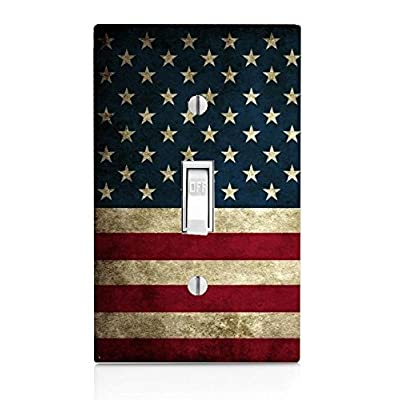 Trendy Accessories American Flag Design Pattern Print Single Light Switch Toggle Wall Plate Cover (not Decal): Home & Kitchen