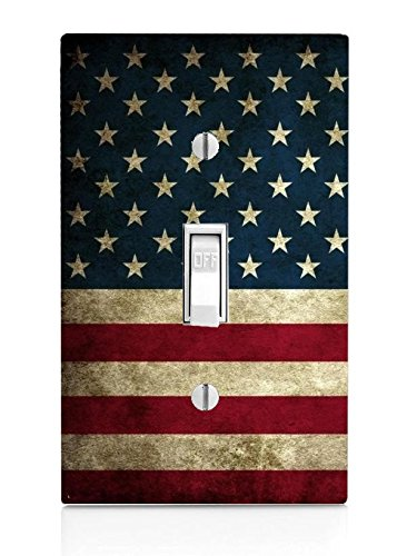 American Flag Design Pattern Print Light Switch Plate