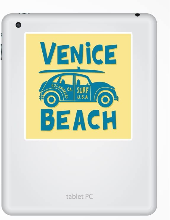 2 x Venice Beach Vinyl Stickers Travel Luggage #10501
